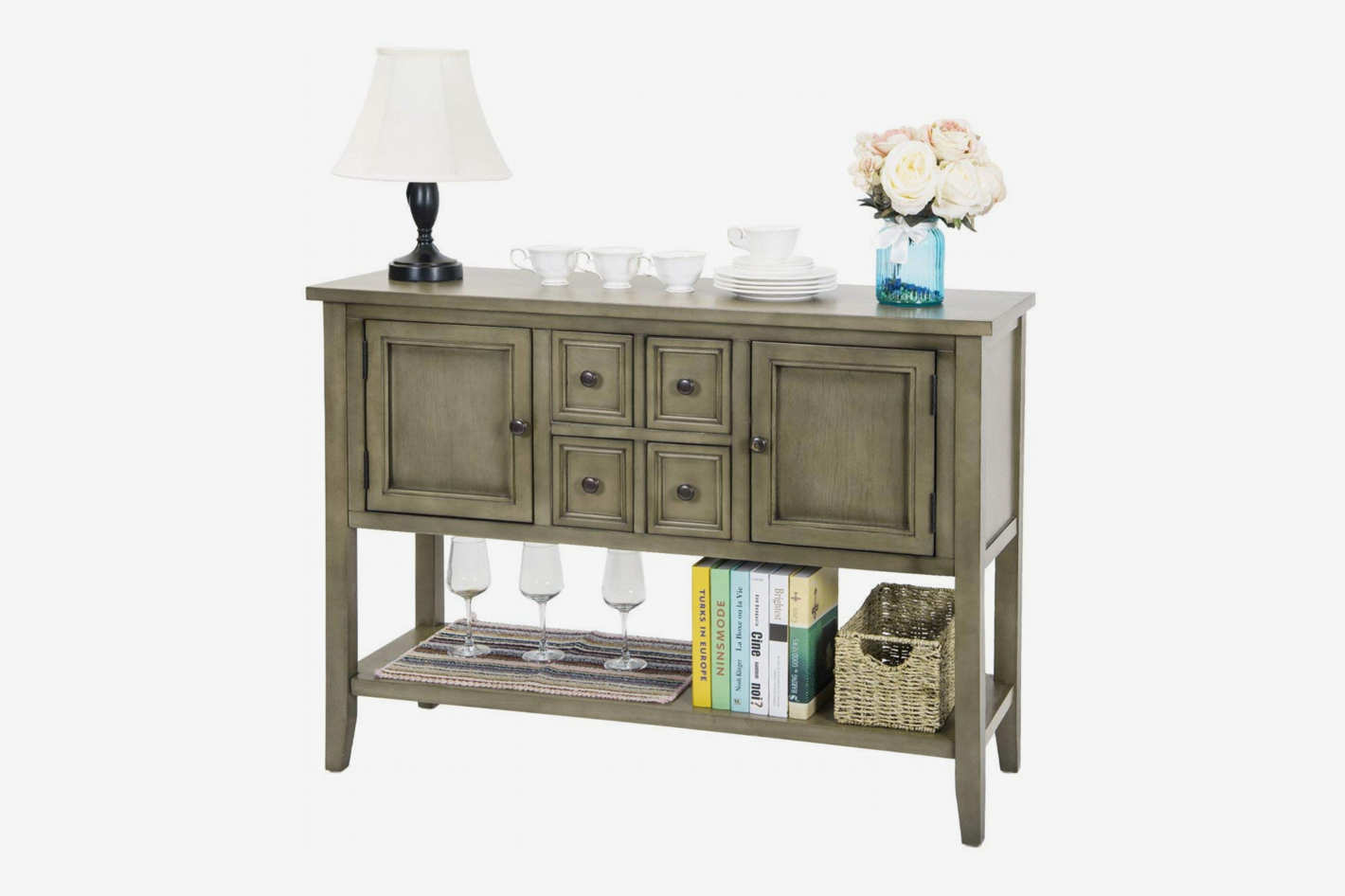 Harper&Bright Designs Acacia Mangium Sideboard Console Table