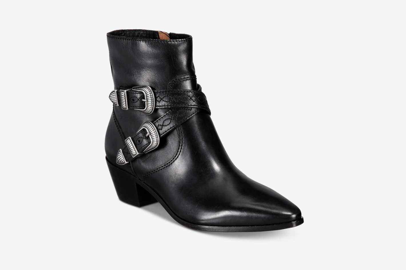 Ellen Buckle Short Boots