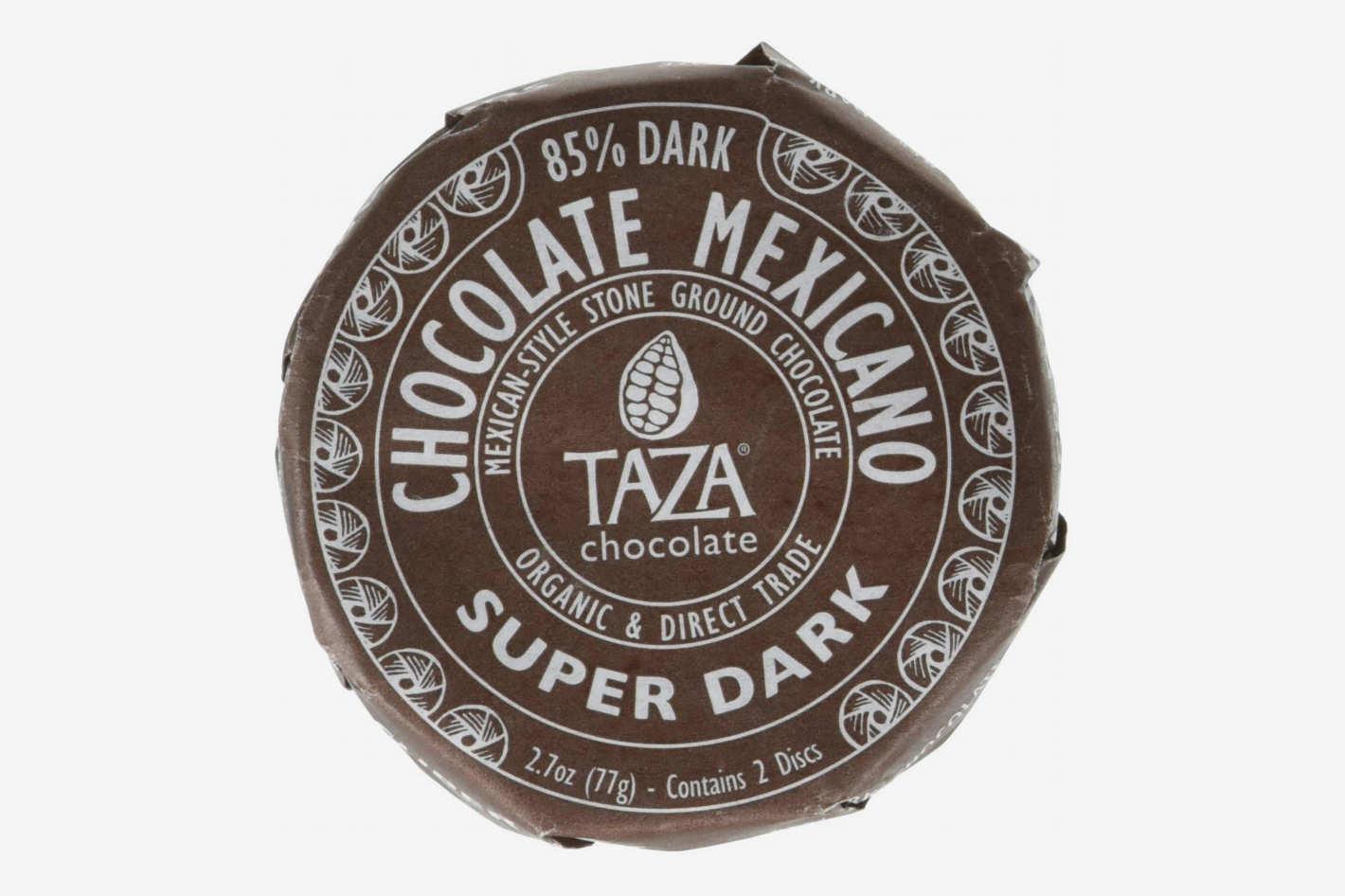 Taza Organic Chocolate Mexicano Super Dark Disc, 85% Dark