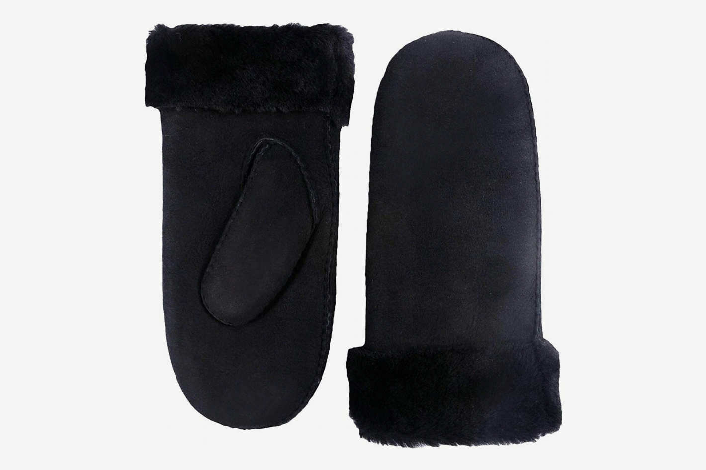YISEVEN Women's Merino Rugged Shearling Winter Leather Mitten