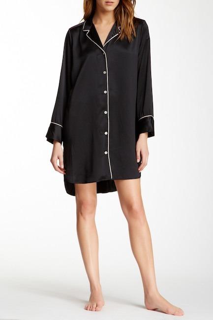 Natori Notch Collar Sleep Shirt