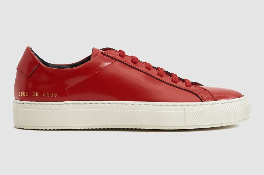 Woman by Common Projects Achilles Premium Low Sneaker in Red