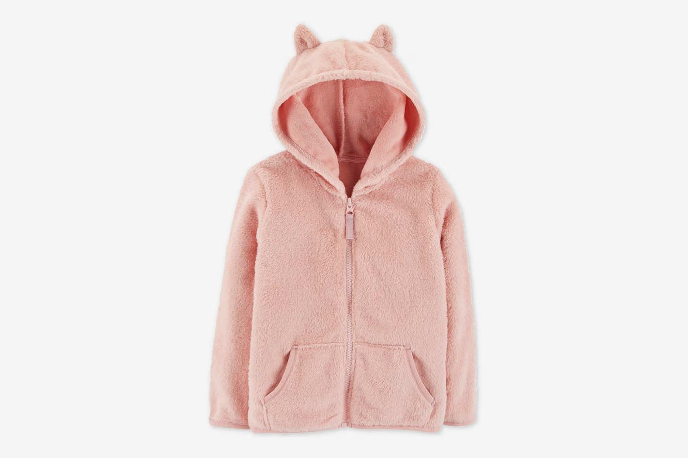 Carter's Toddler Girls Hooded Faux-Sherpa Jacket