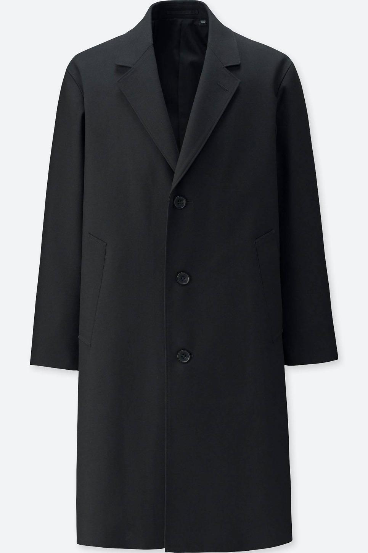 Uniqlo Men's U Wool Blend Chesterfield Coat