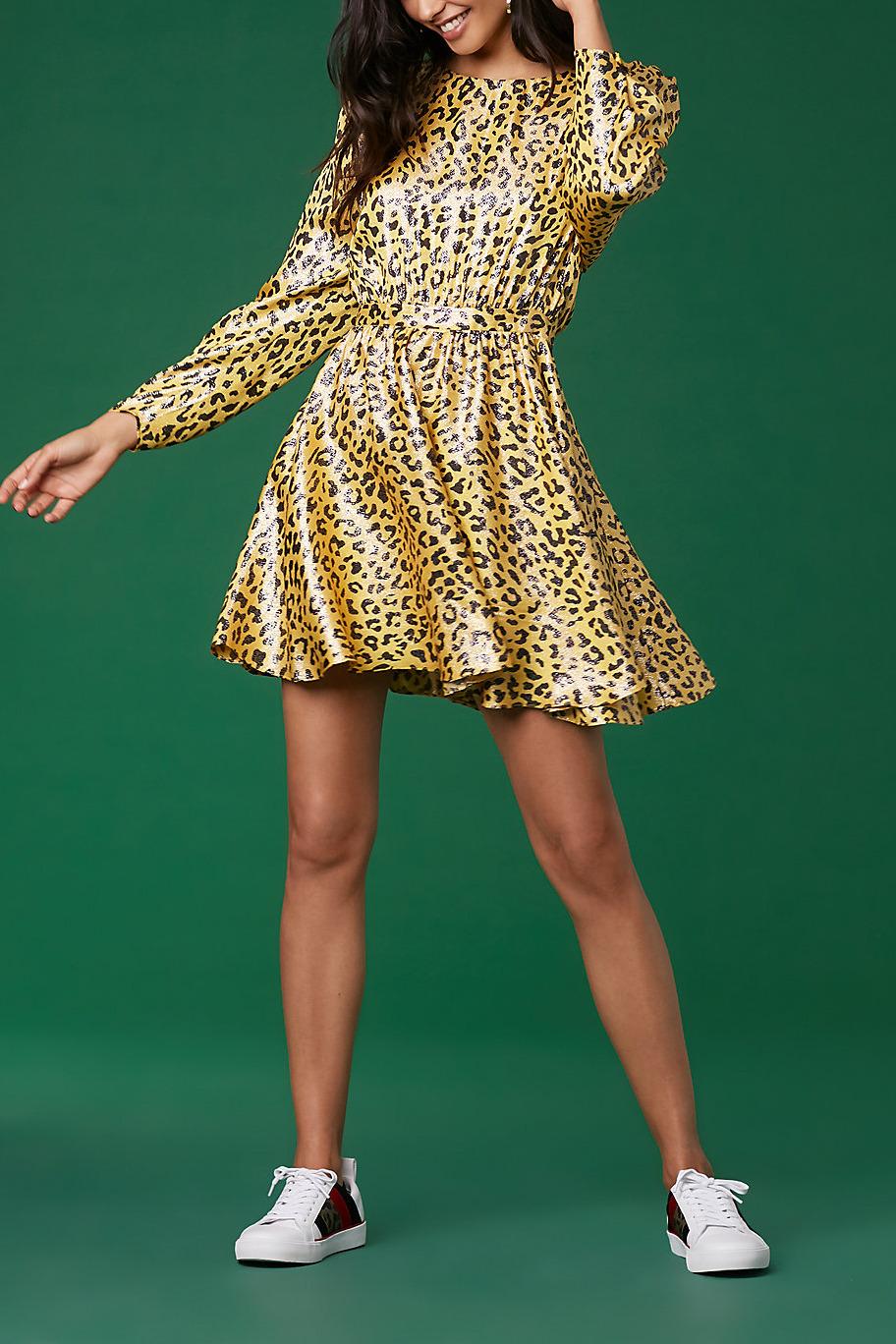 Diane von Furstenberg Cinched Waist Draped Mini Dress