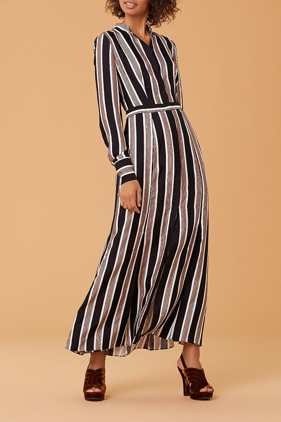 Diane von Furstenberg Long-Sleeve Collared Flare Shirt Dress