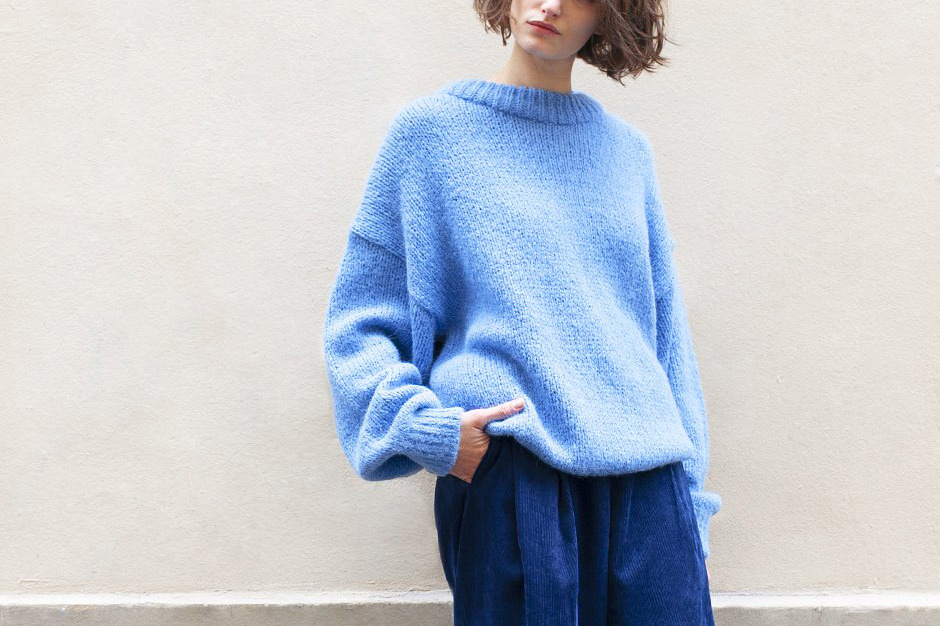 Sky Blue Crewneck Sweater