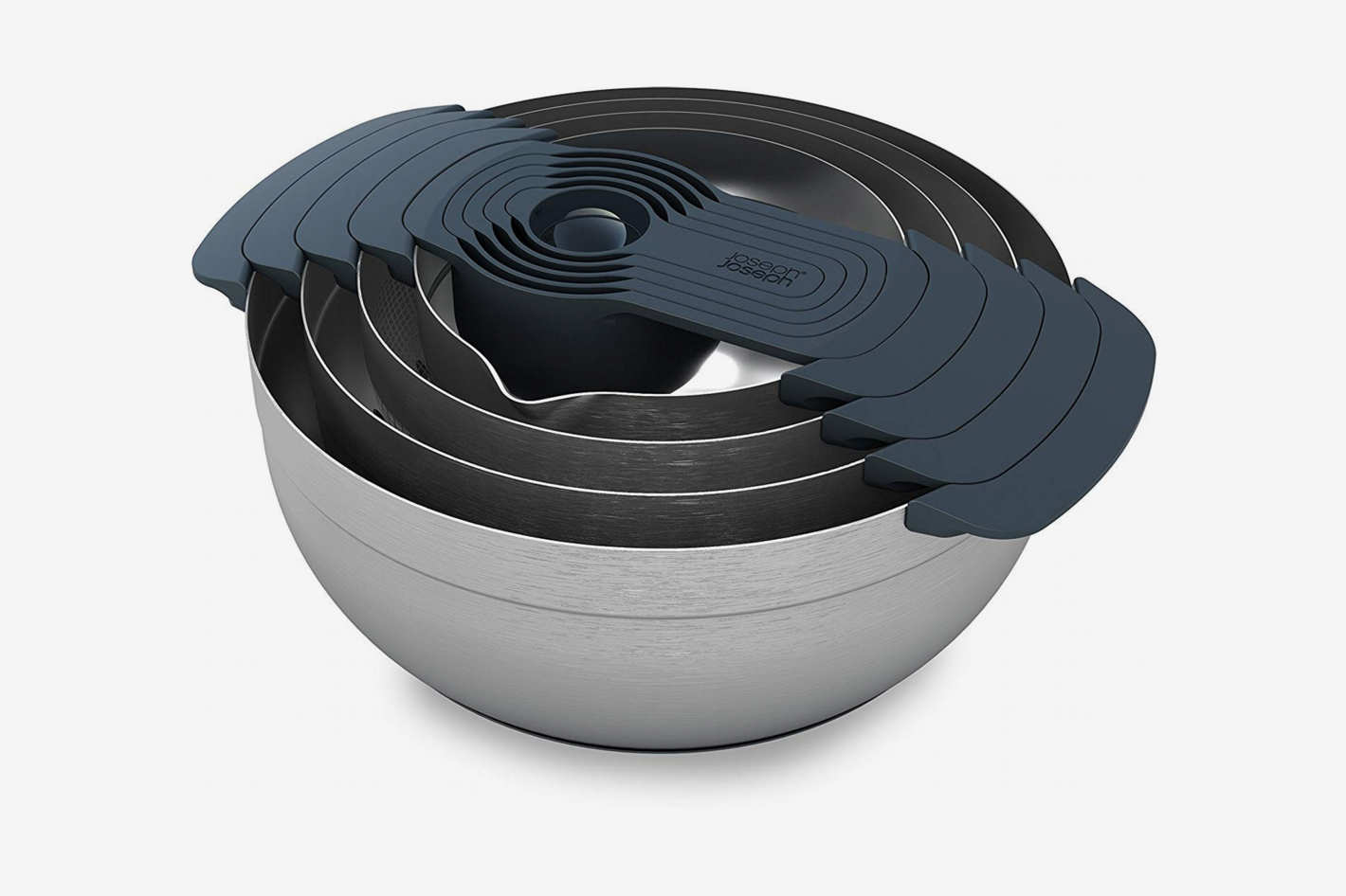 Joseph Joseph 95032 Nest 9 Stainless Steel Compact Nesting Mixing Bowl Set