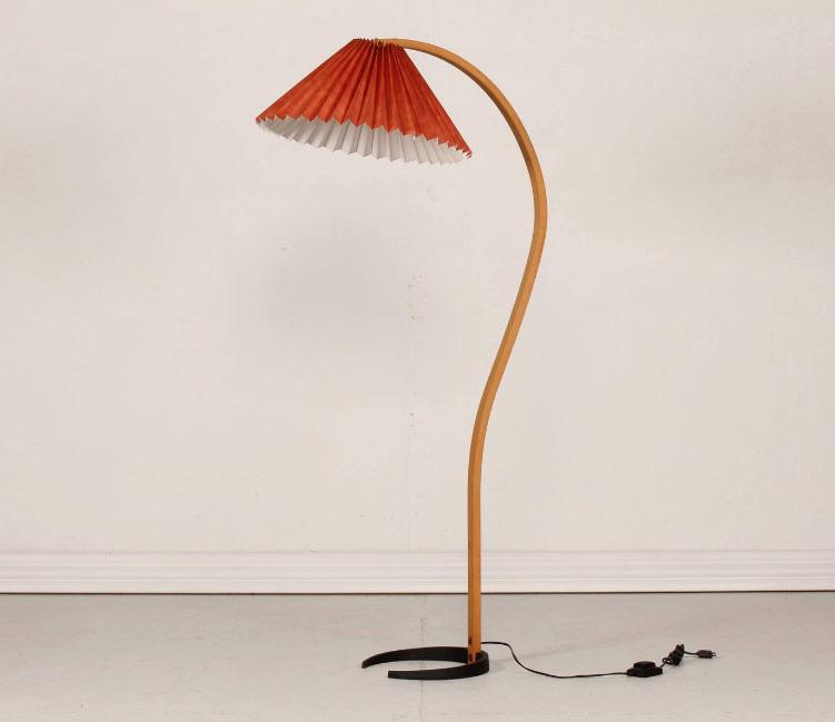 Danish Beech Floor Lamp by Mads Caprani
