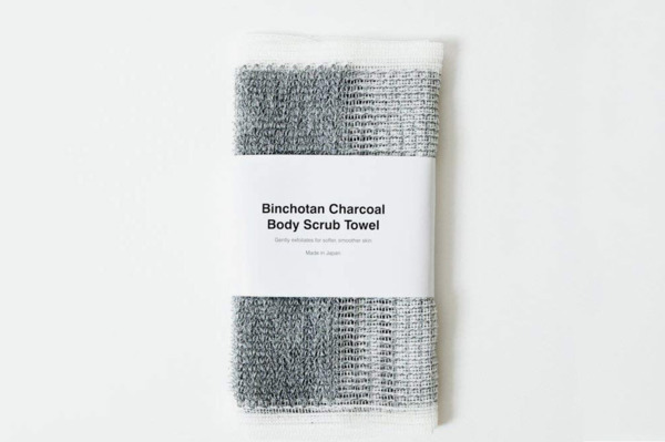 Morihata Binchotan Activated Charcoal Body Scrub Towel