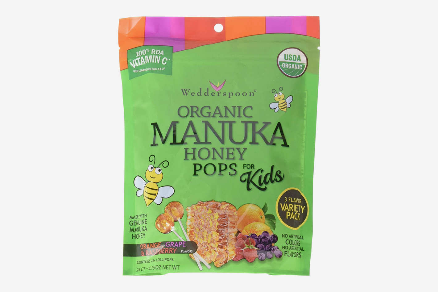 Wedderspoon Organic Manuka Honey Pops for Kids