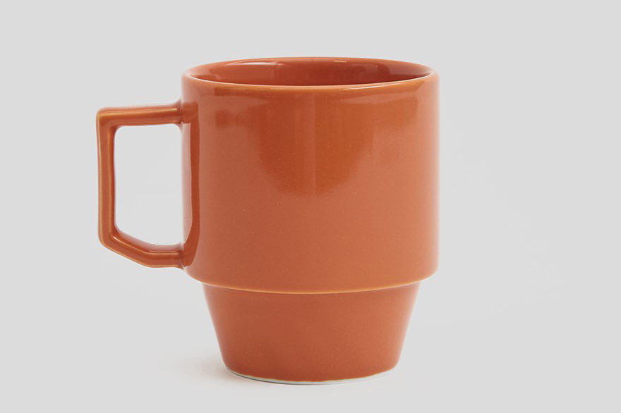 Maruhiro Block Mug in Orange