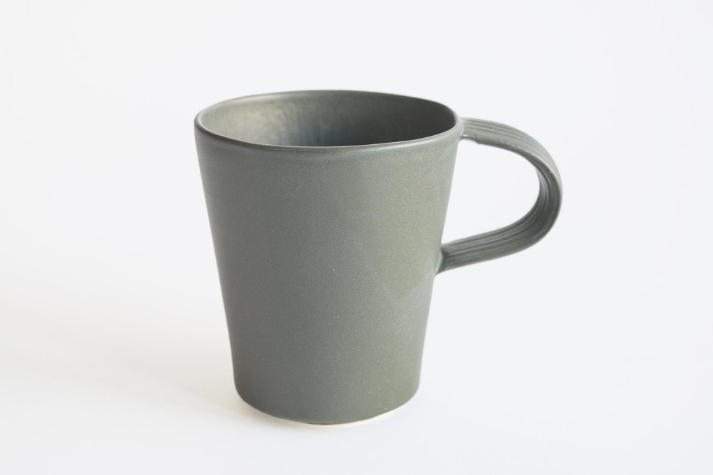 Natalie Weinberger Pleat Mug Dark Green