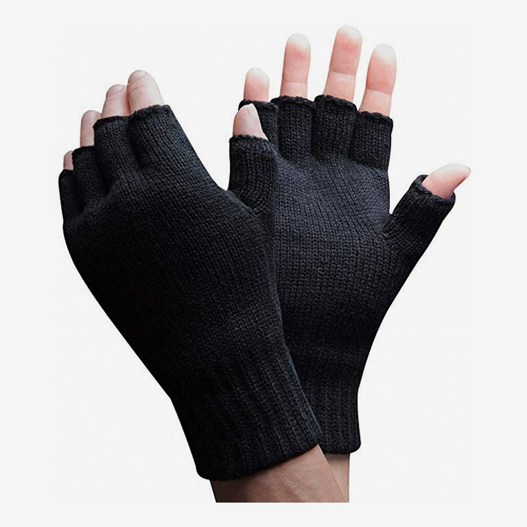 3M Thinsulate 40 gram Thermal Insulated Knit Winter Fingerless Gloves