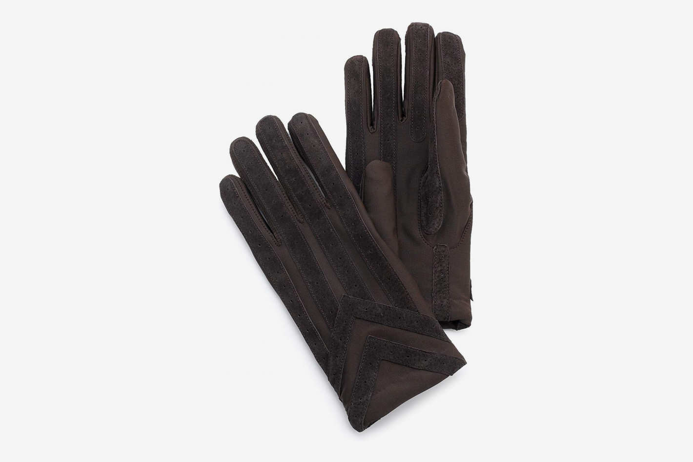 Isotoner Men's Spandex Glove With Suede Palm Strips