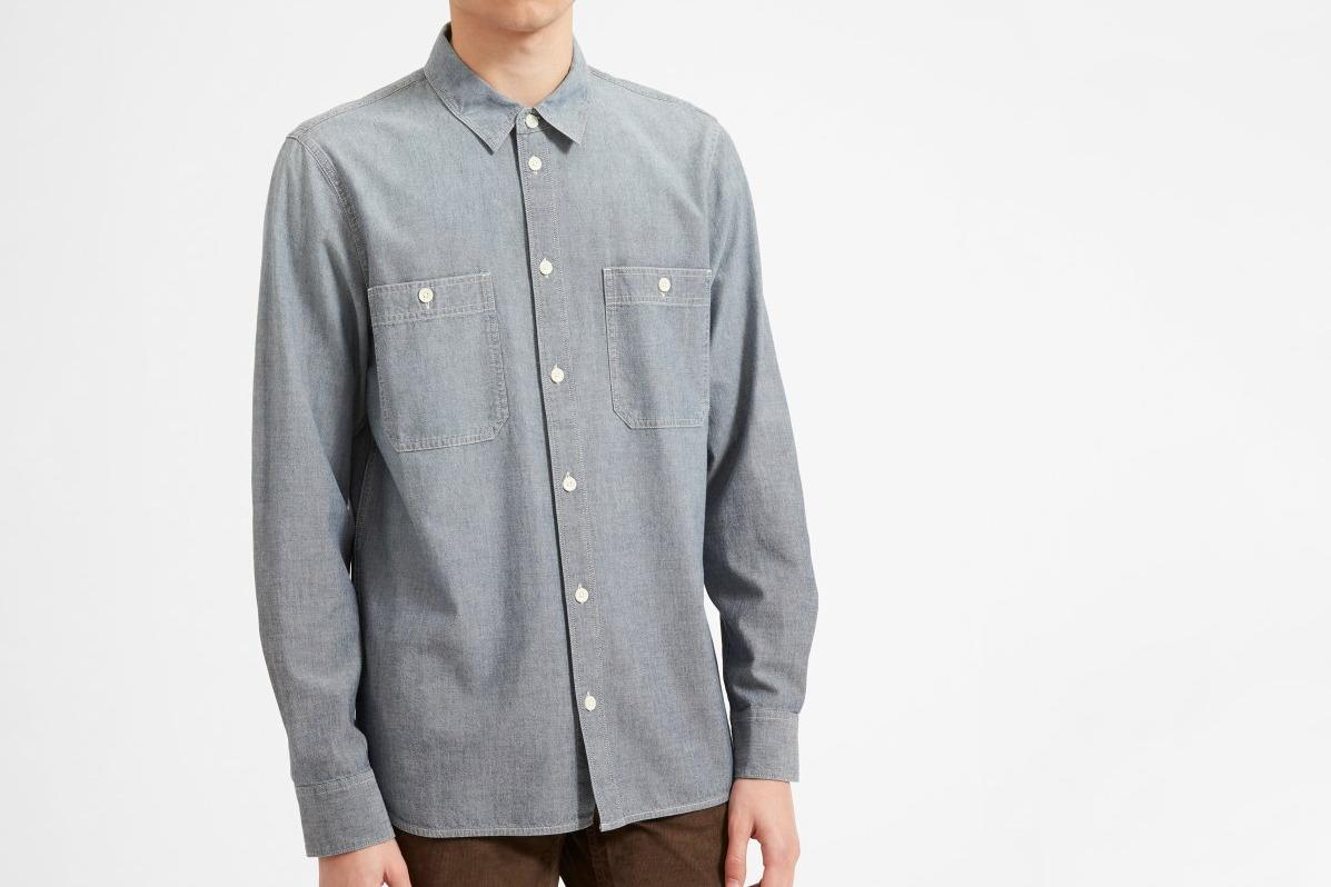 Everlane Chambray Standard Fit Work Shirt