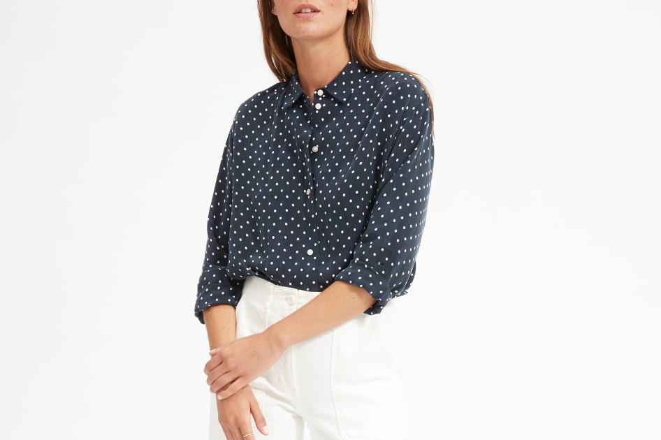 Everlane Polka Dot Oversized Shirt