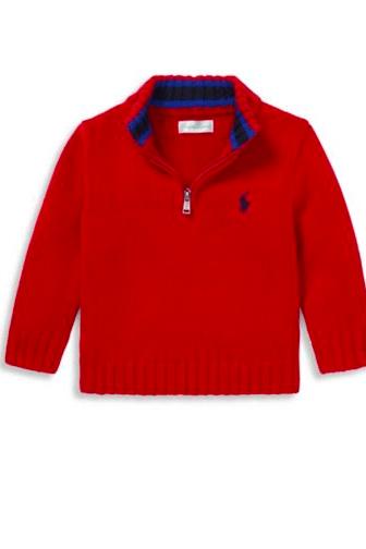 Ralph Lauren Baby Boy's Chunky-Knit Sweater
