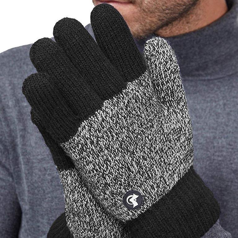 LETHMIK Thick Fleece Knit Winter Gloves