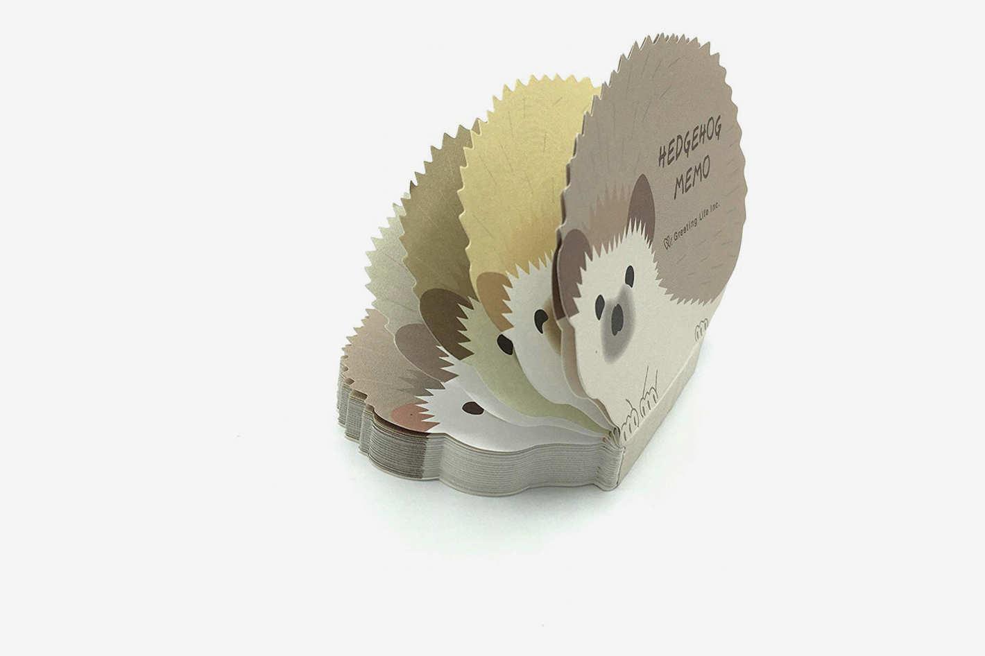Hedgehog Die-cut Memo Pad
