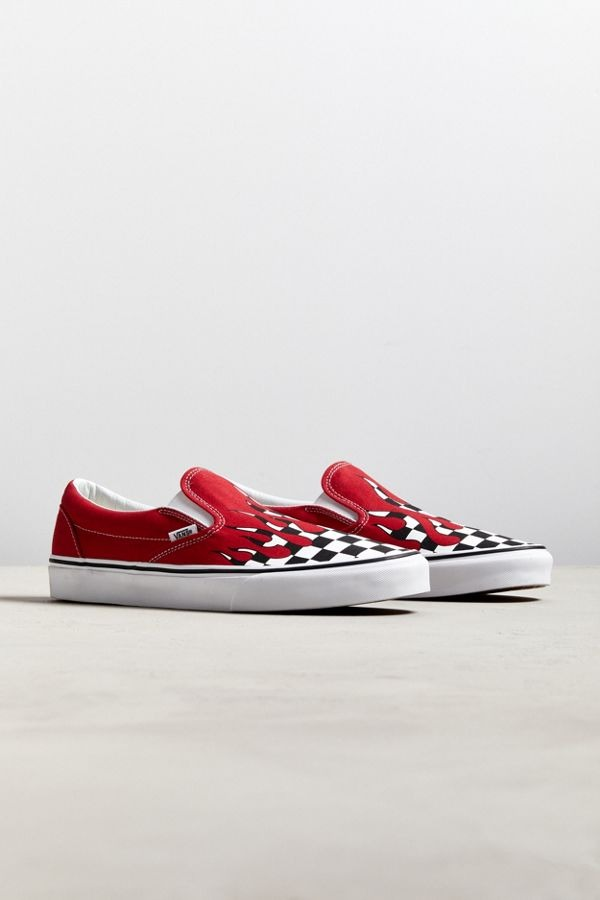 Vans Slip-On Checkerboard Flame Sneaker