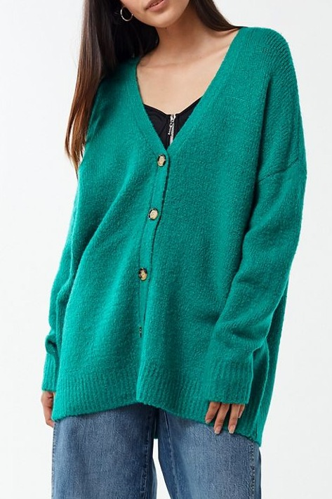 UO Jordan Oversized Plush Cardigan