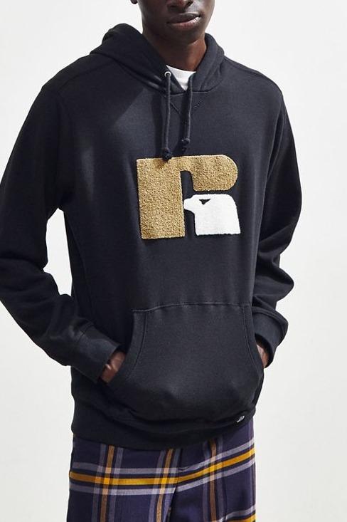 Russell Athletic Chenille Hoodie Sweatshirt