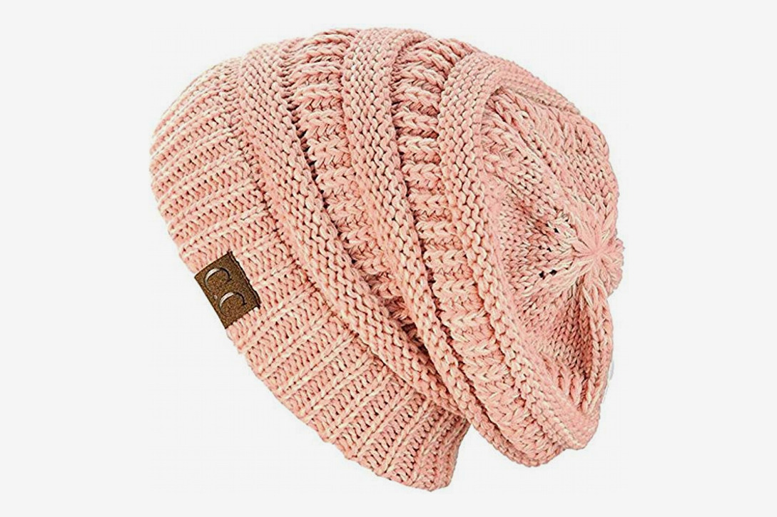 cd67a0100b6 C.C Warm Chunky Soft Stretch Cable Knit Beanie