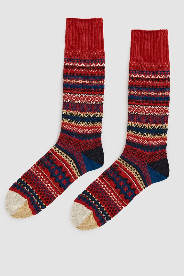 Chup Fika Knit Sock in Berry