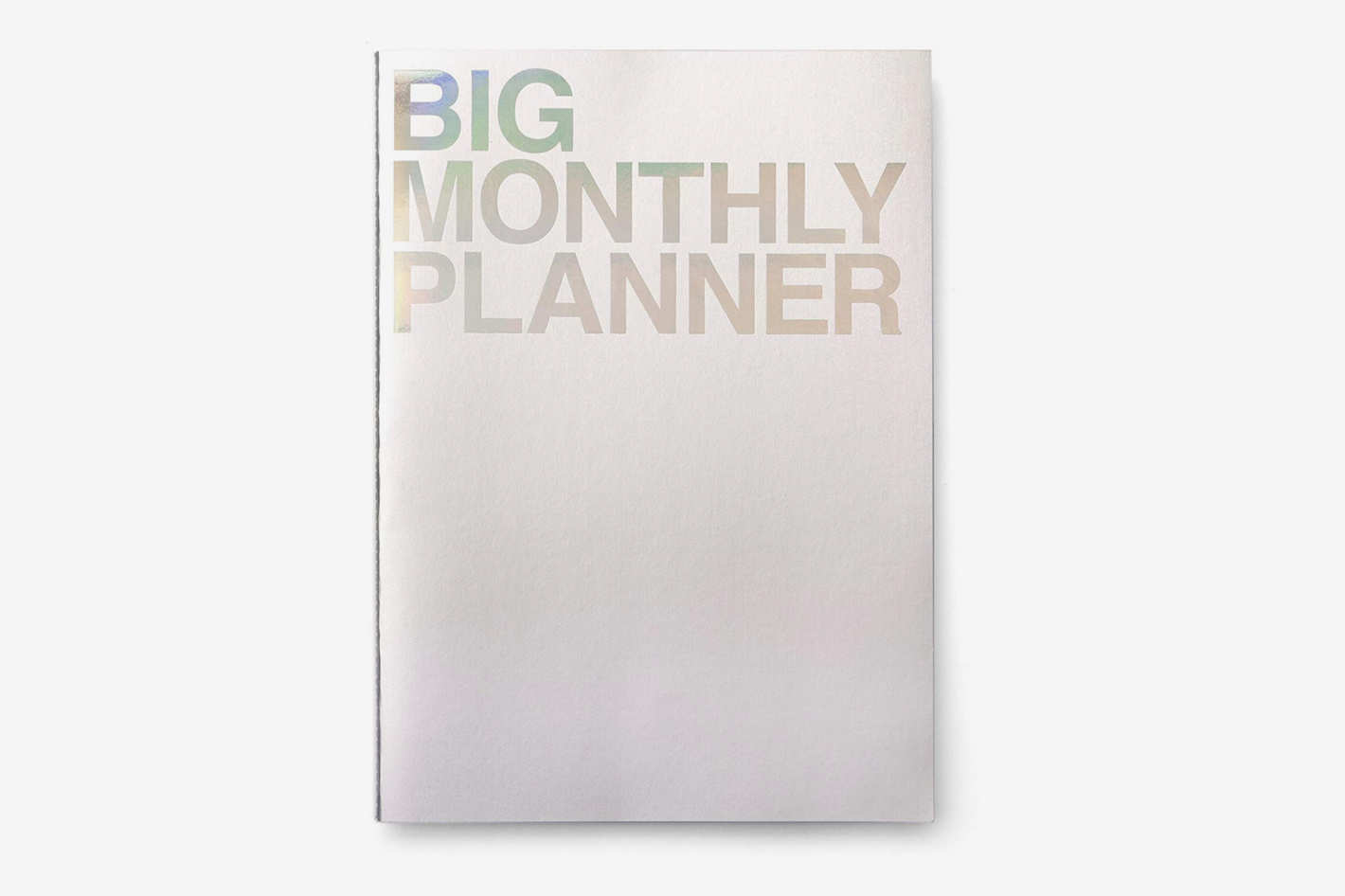 JStory Big Monthly Planner 18-Sheets Silver