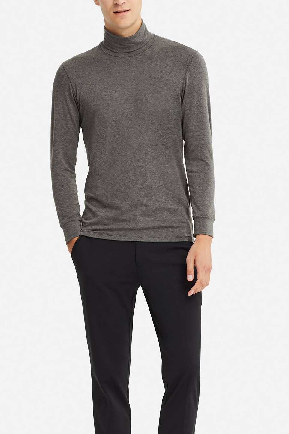 Uniqlo Men's Heattech Extra Warm Turtleneck Long-Sleeve T-shirt
