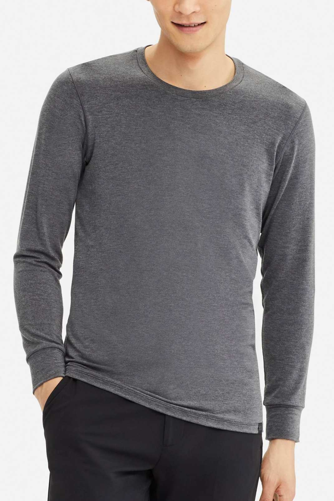 Uniqlo Men's Heattech Extra Warm Crew Neck Long-Sleeve T-shirt