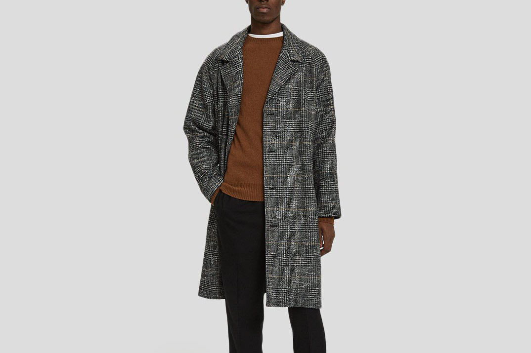 Éditions M.R Tristan Belted Tweed Overcoat