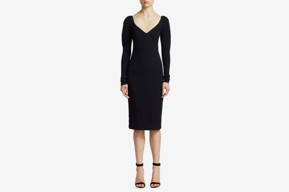 A.L.C. Dafne Ribbed Sheath Dress