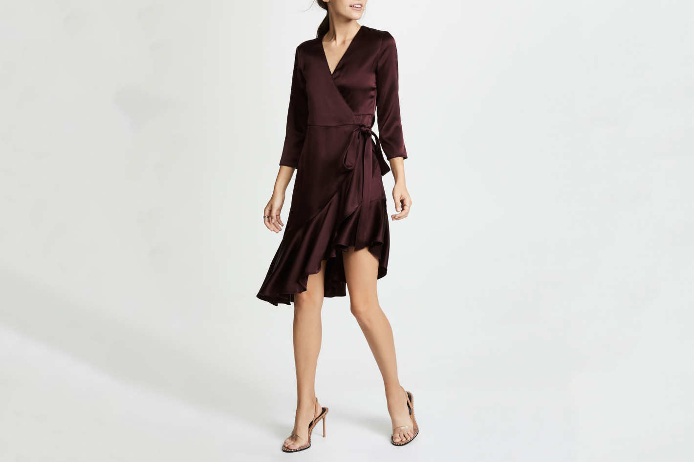 Edition10 Asymmetrical Ruffle Dress