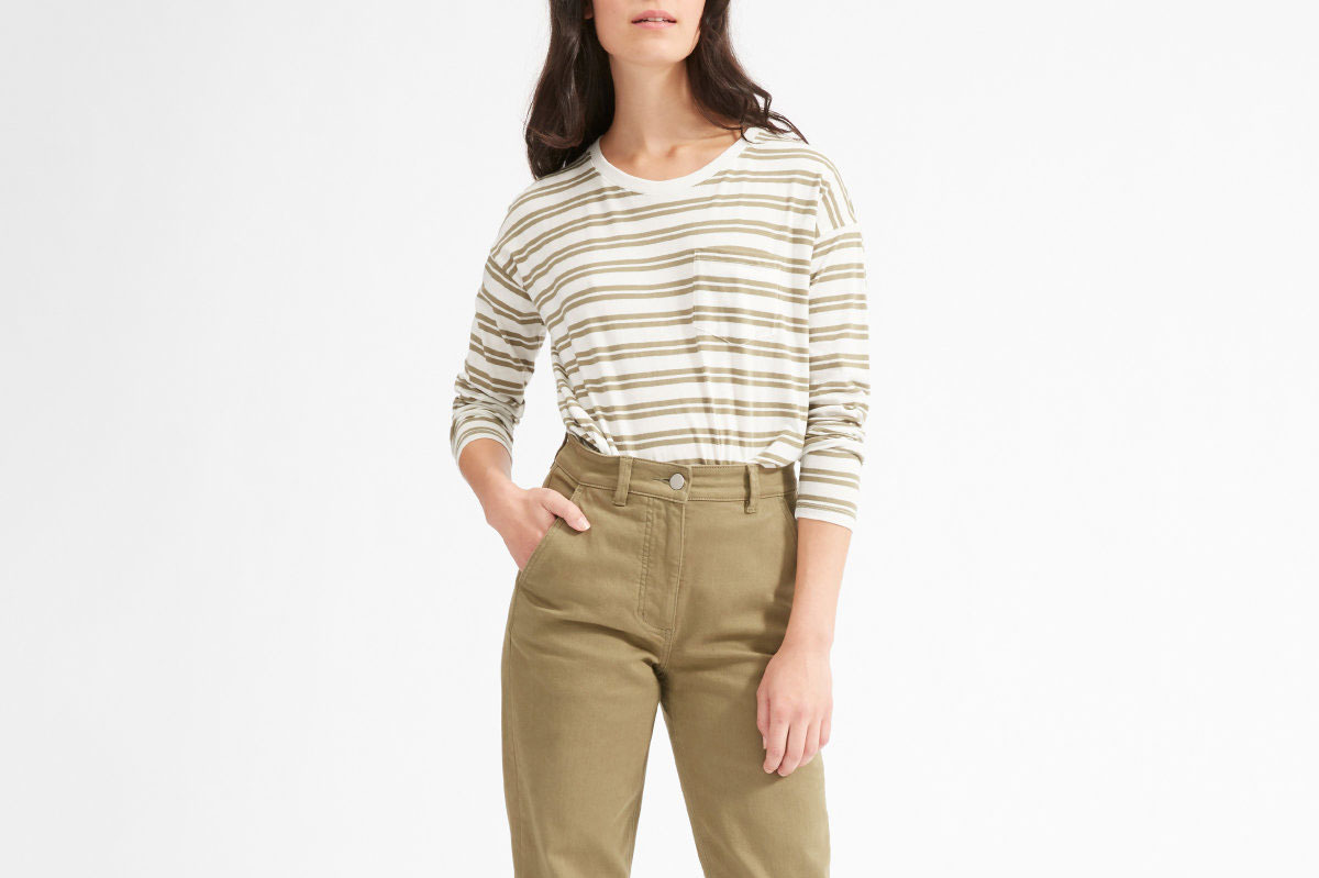 Everlane Long-Sleeve Box-Cut Tee