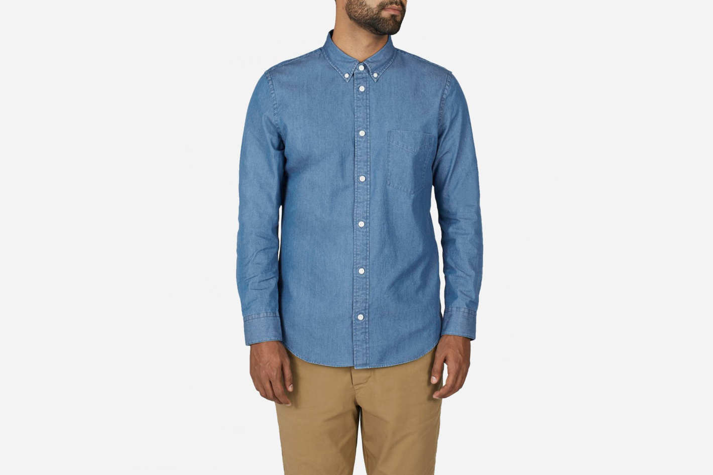 Everlane Denim Long-Sleeve Shirt