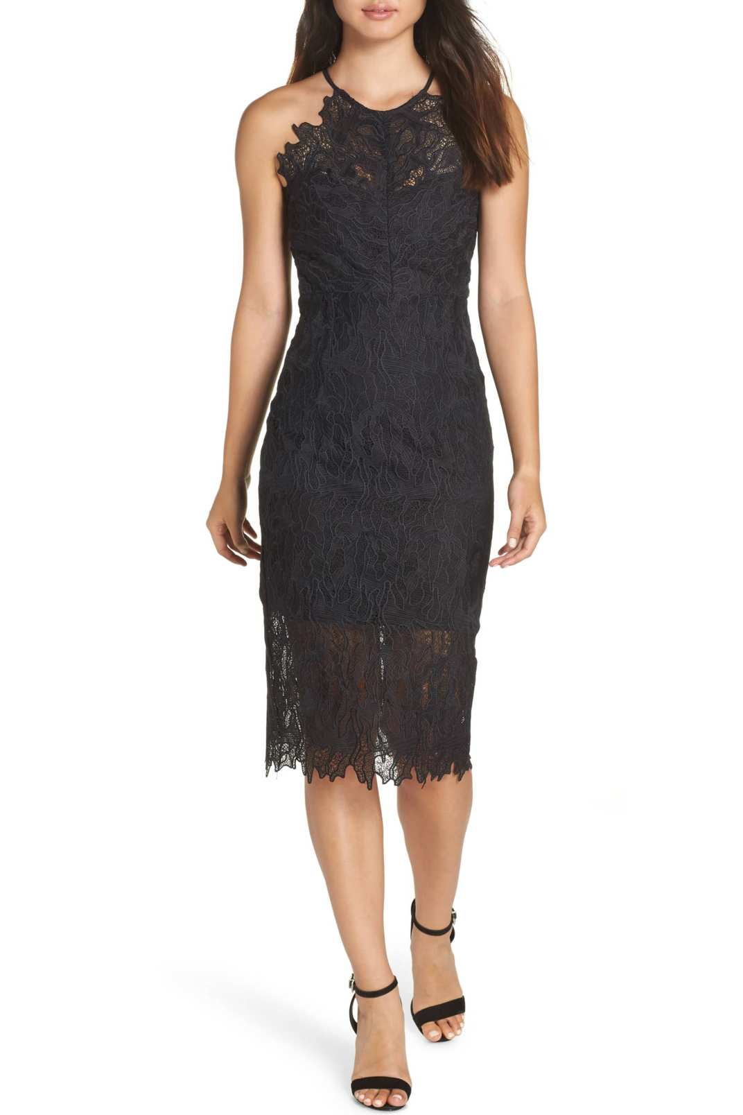 Bardot Embroidered Lace Dress