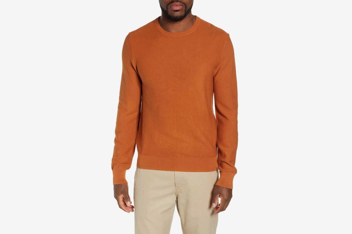 J.Crew Garter Stitch Cotton Sweater