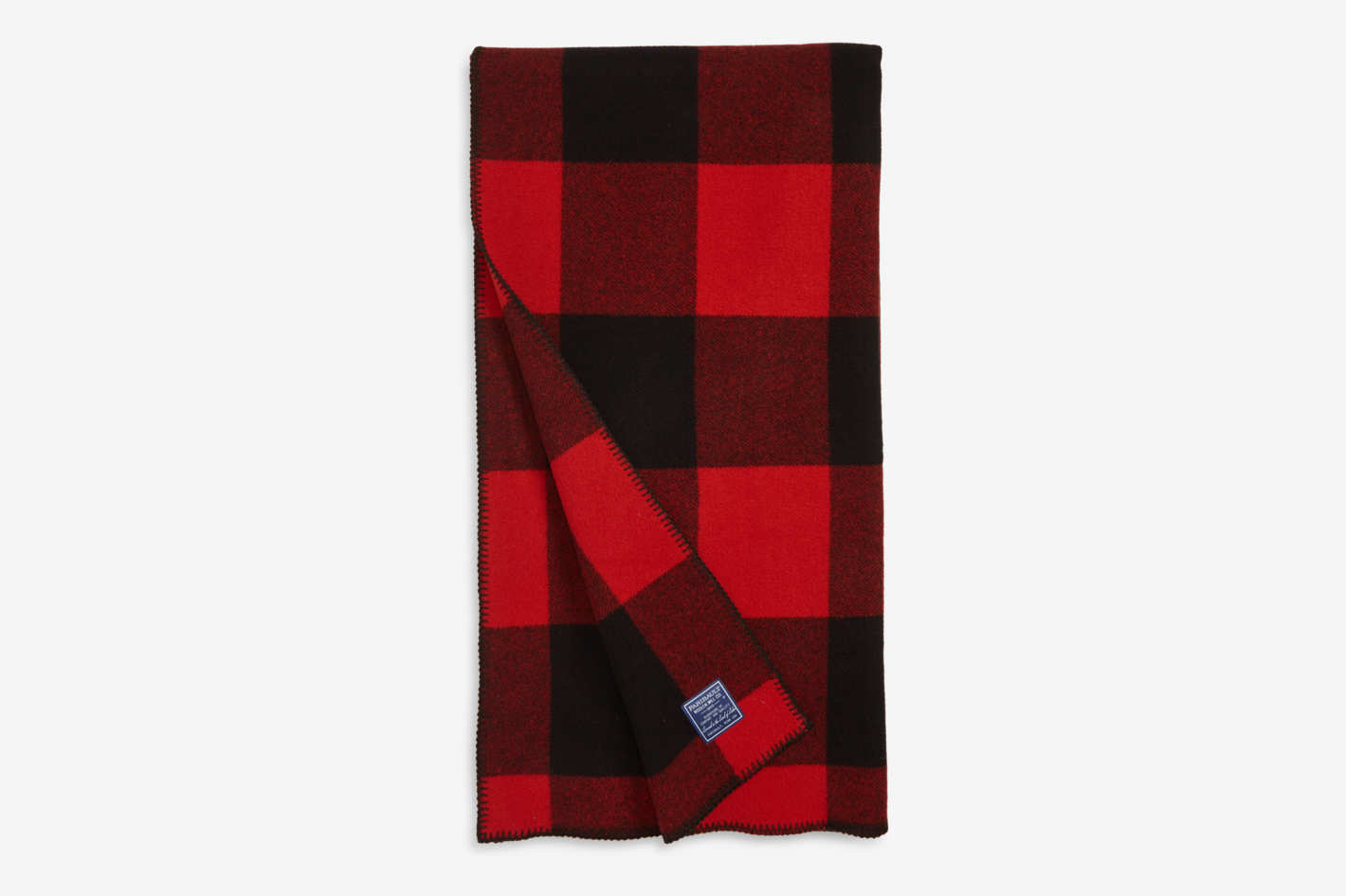 Faribault Woolen Mill Buffalo Plaid Wool Blanket