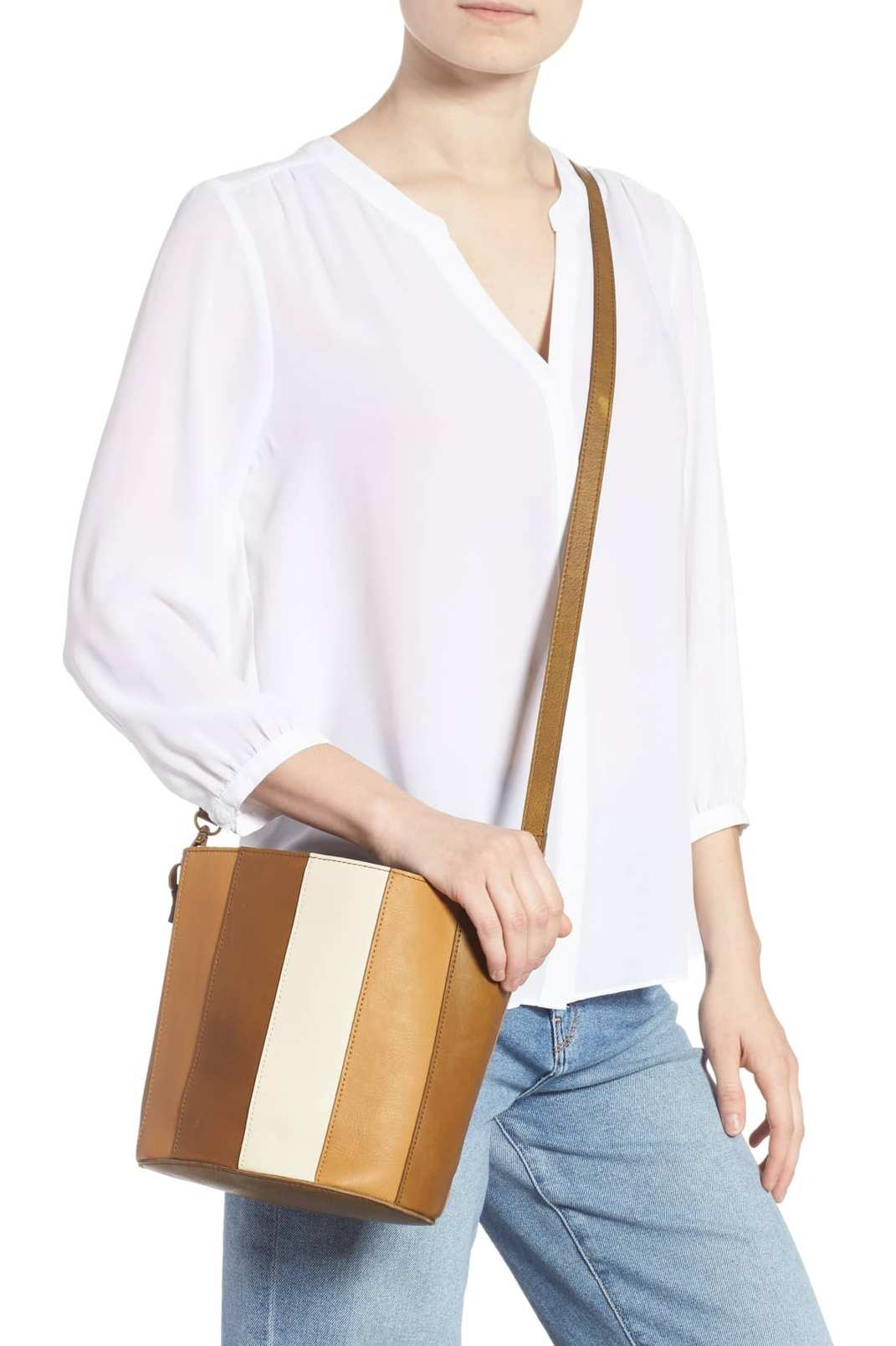 Madewell Eaton Two-in-One Leather Shoulder Bag
