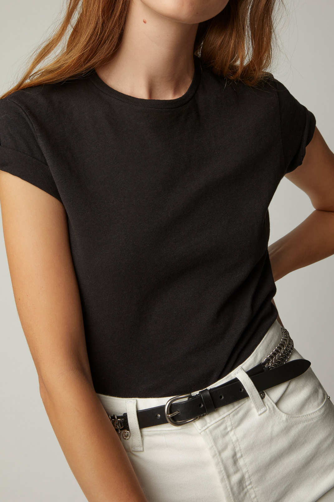 Re/Done 1950s Boxy Cropped T-Shirt