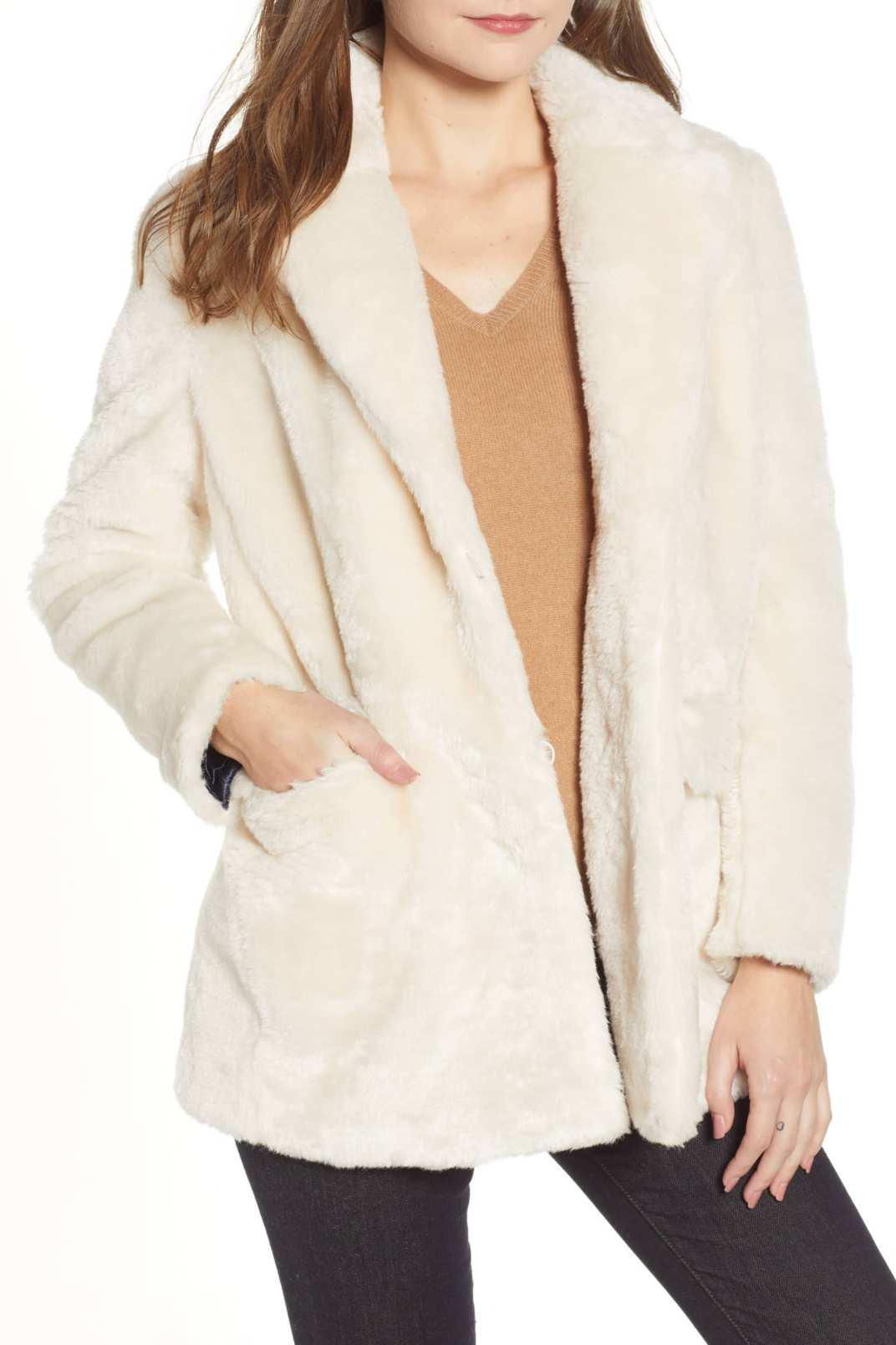 J.Crew Yuna Teddy Faux Fur Jacket