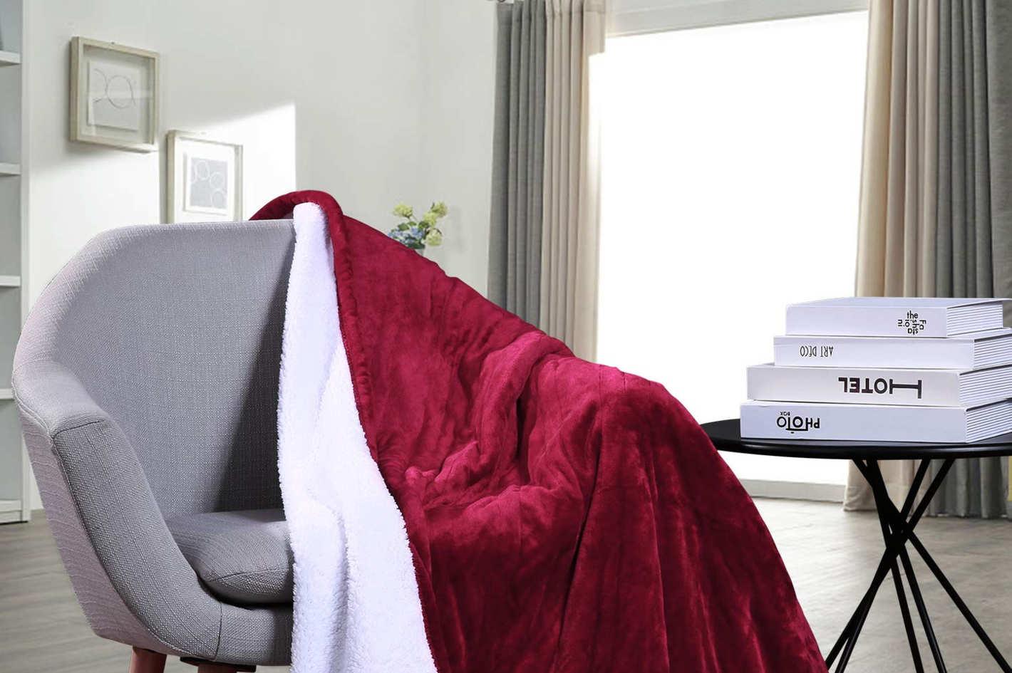 MaxKare Electric Heated Throw Blanket