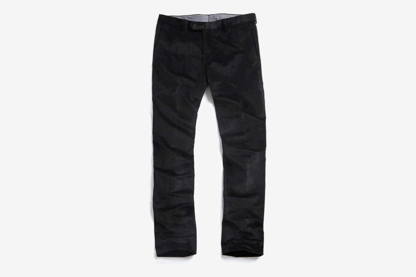 Sutton Corduroy Trouser in Black