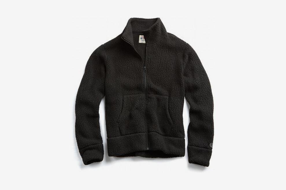 Polartec Full-Zip Jacket in Black