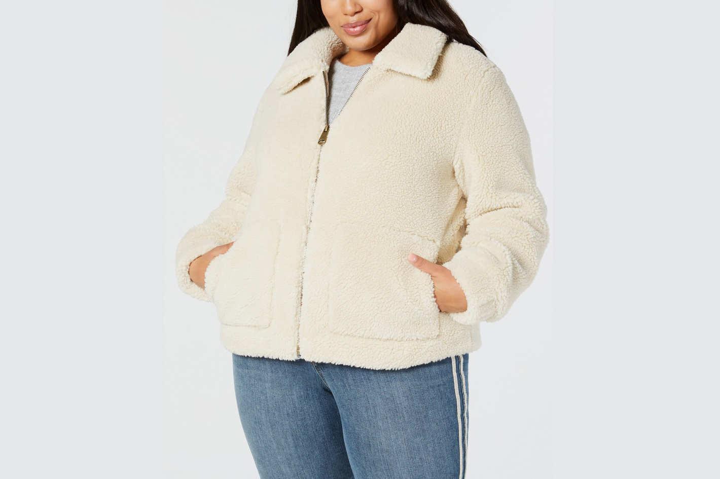 Style & Co Plus Size Teddy Jacket