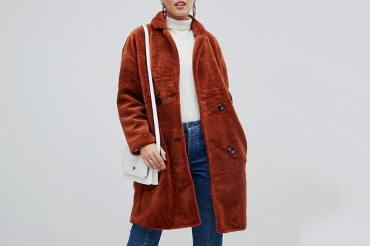 Jayley Teddy Faux Double Breasted Coat