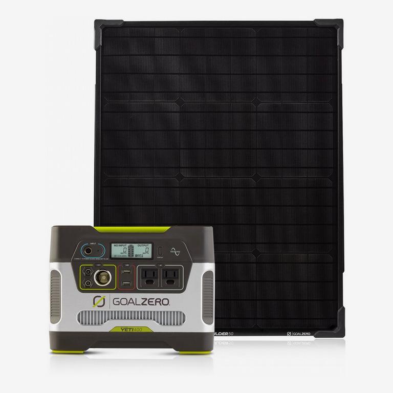 Goal Zero Yeti 400 Portable Power-Station Kit With Boulder 50 Solar Panel