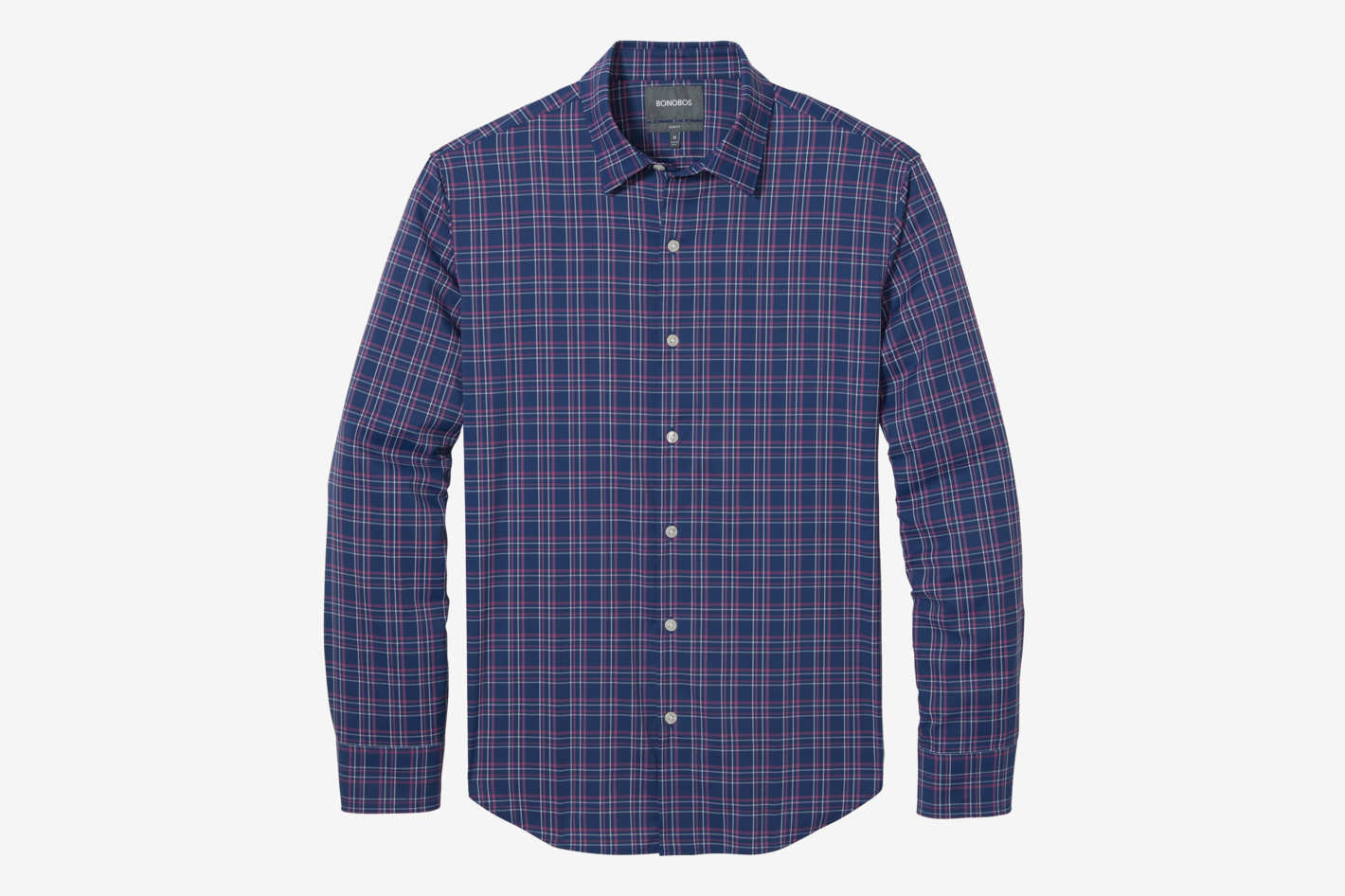 Men's Slim Fit Tech Button Down Shirt, Calvin Check
